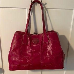 Coach - all season patent satchel